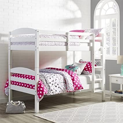 Amazon Com Convertible Bunk Beds With Ladder Two Twin Size Beds