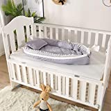Breathable Baby Nest Bed Baby nest Bed Newborn Baby Boy Baby Girl Toddler Size Snuggle Bed Custom Baby Sleep Positioner Cocoon 4-Pieces