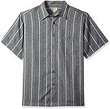 Haggar Men's Short Sleeve Microfiber Woven Shirt, New Coal MARL, XL