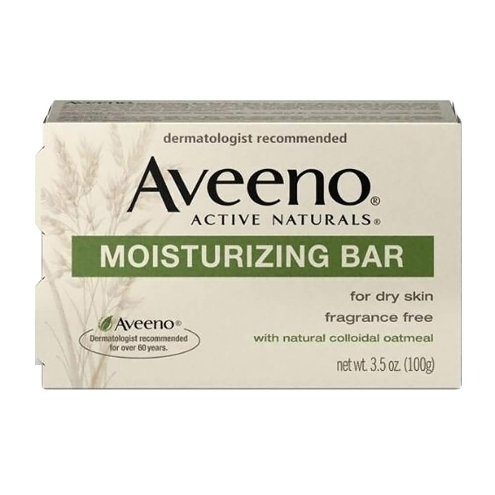 Active Naturals Moisturizing Bar for Dry Skin with colloidal oatmeal by Aveeno for Unisex - 3.5 oz Soap 381370036234