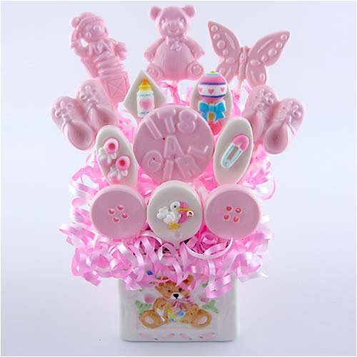 """Cuddle Up"" Baby Girl Lollipop Bouquet"