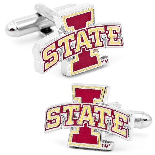 NCAA Iowa State Cyclones Cufflinks - Engraved Onyx Cufflinks
