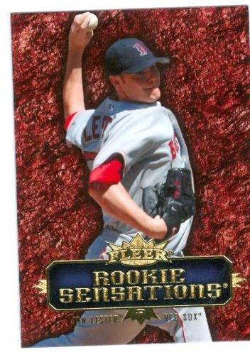 - Jon Lester baseball card 2007 Fleer Rookie Sensations #RS-JL (Boston Red Sox Rookie Card)