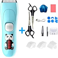 Hair Clippers for Kids, MOGOI Professional Baby Hair Clipper Ultra-Quiet Waterproof Cordless Electric Clipper Baby Trimmer Haircut Kit for Infants Kids Children Boys and Girls Hair Cutting
