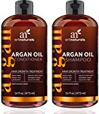 ArtNaturals Moroccan Argan Oil Hair Loss Shampoo & Conditioner Set - Hair Regrowth (2x16Oz) Sulfate Free- Treatment for Hair Loss, Thinning Hair & Hair Growth, Men & Women- Made W/ Organic Ingredients