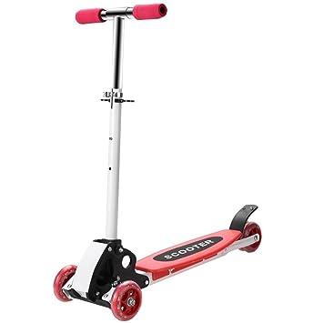 Acecoree Patinete para Niños Scooter 3 Ruedas Plegable Altura Adjustable (Rojo): Amazon.es: Juguetes y juegos