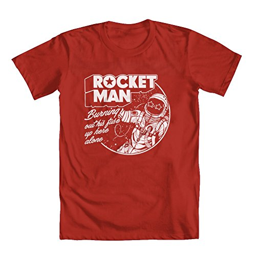 GEEK TEEZ Rocket Man Tribute Youth Boys' T-Shirt Red Small