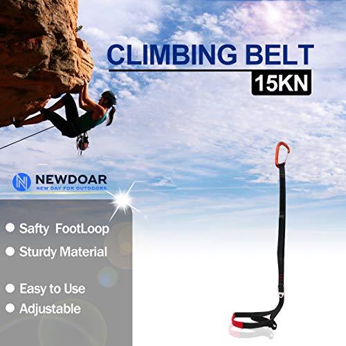 Outdoor Tree Climbing Caving Equipment Adjustable Foot Loop Sling Ascender