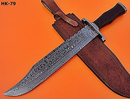 Amazon.com: reg- HK -79 Acero de Damasco 17.4 inches Massive ...