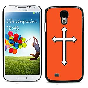 Graphic4You Cross Design Hard Case Cover for Samsung Galaxy S4 S IV (Orange)