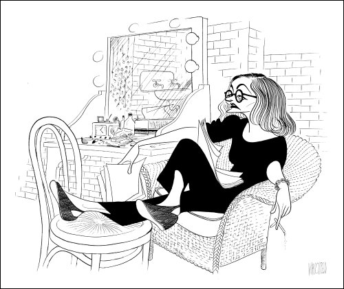 Al Hirschfeld's TALLULAH BANKHEAD Hand Signed Limited Edition Lithograph by AL HIRSCHFELD