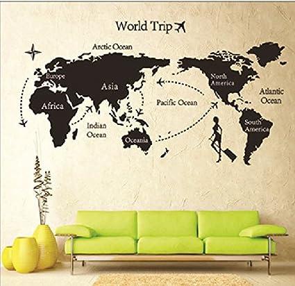 Buy syga diy world trip map art wall sticker pvc vinyl 61 cm x 5 syga diy world trip map art wall sticker pvc vinyl 61 cm gumiabroncs Image collections