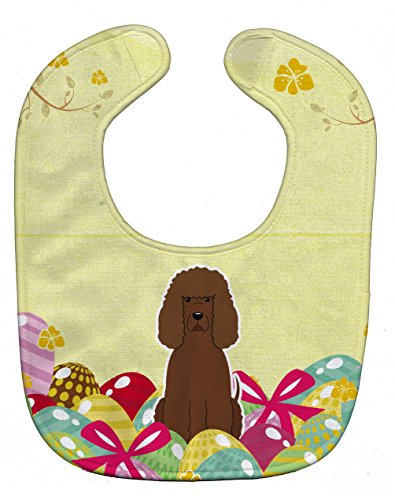 Caroline's Treasures Easter Eggs Baby Bib, Irish Water Spaniel, Large