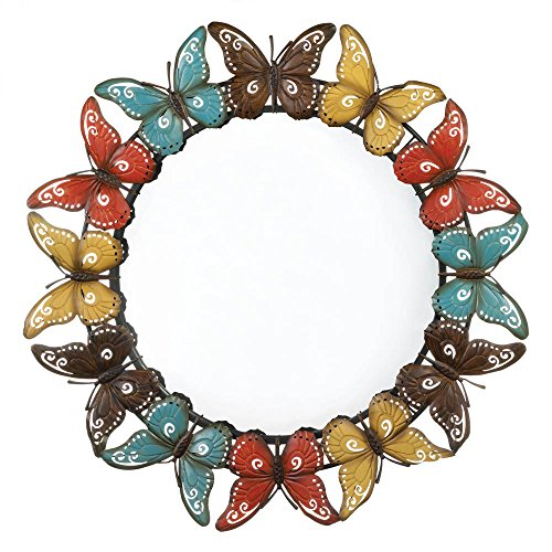 Zingz and Thingz Colorful Butterfly Wall Mirror