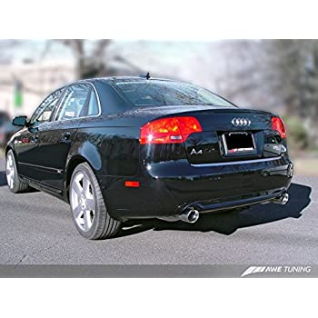 AWE Tuning 3020-33018 Audi B7 A4 3.2L Track Edition Dual Tip Exhaust (Diamond Black Tips)