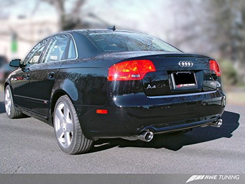 AWE Tuning 3040-33012 Audi B7 A4 3.2L Touring Edition Dual Tip Exhaust (Diamond Black (Remus Dual Exhaust Tips)