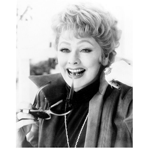 Lucille Ball 8 x 10 photo I Love Lucy The Lucy Show Here's Lucy B&W Pic Bow of Sunglasses in Her Mouth - Sunglasses Pic