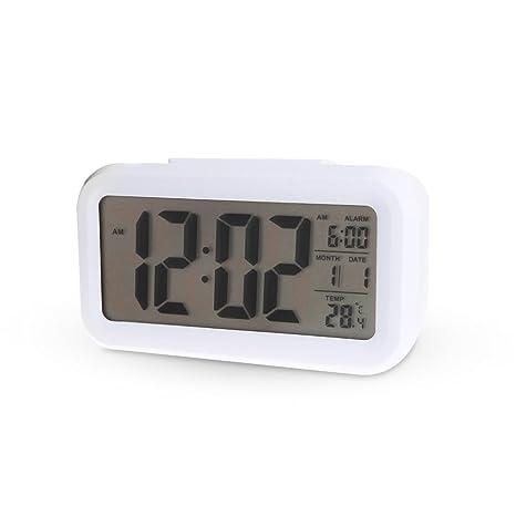 Kadio Plastic Digital Clock (14.4 cm x 9 cm x 5 cm, White)