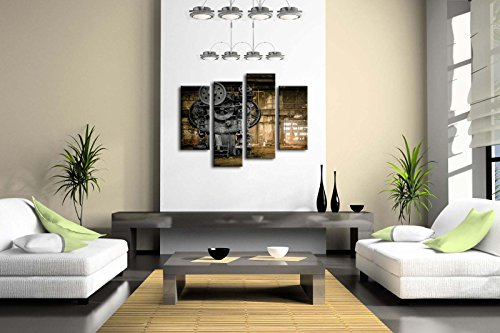 Wall Art Metallurgical Firm Waiting for A Demolition Machine Old Factory Painting Pictures Print On Canvas Architecture… 4