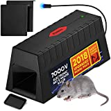 Electric Rodent Killer – Pet & Family Safe Exterminating Mice Killer Trap with Removable Bait Tray & Safety Guards – Poison Free Zapper for Rats, Squirrels, Mice & Rodents – Electric Pest Trap (PX473)