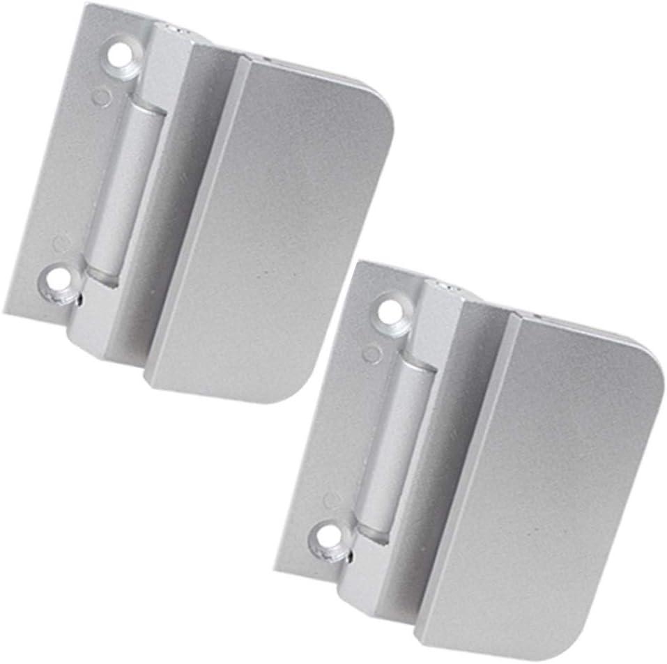 2PCS Door Hinge,Bathroom Clamp Glass Door Hinge,Office Cabinet Aluminum Alloy Partition Household Hardware Clamp For Commercial Residential Industrial Door
