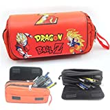 Thedmhom 1 Pcs New Cool Cartoon Anime Dragon Ball Z Pencilcase Super Siah Waterproof PU Leather