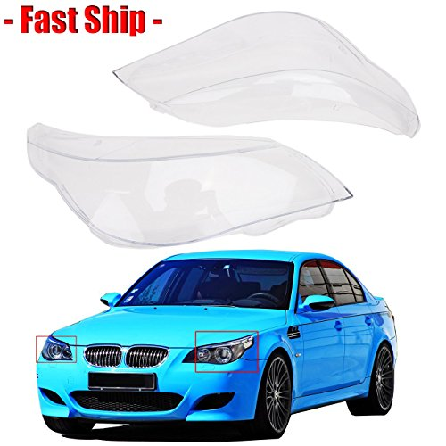 Fast Ship - for BMW 5 Serice E60 E61 520i 520d 523i 525i 530xi 535d 540i 545i 550i - Headlight Lens Cover / Front Headlamp PC Cover