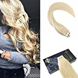 "Ugeat 18"" 20Pcs 50Gram Weight Tape on Hair Extensions Bleach Blonde Color 613 Tape in Human Hair Extensions Double Sided Tape 100 Real Human Hair Extensions"