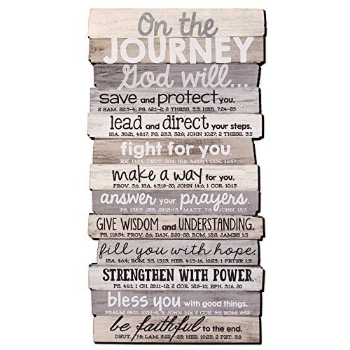 Wood Wall Plaque - Lighthouse Christian Products Journey 8.5 x 16.5 Stacked Wood Wall Plaque