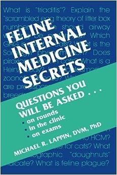 Book Feline Internal Medicine Secrets, 1e 1st Edition by Lappin, Michael R. (2001)