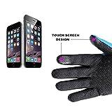 Unisex Fleece Waterproof Winter Warm Gloves Touchscreen Gloves for SmartPhone Outdoor Riding Gloves Size L