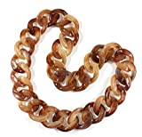 """""""Lovely Links Tortoise Shell"""" Chunky Necklace, 27 Inches"""