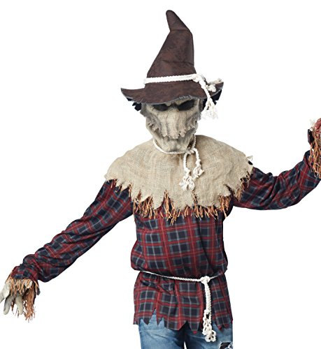 Creepy Scarecrow Costume (California Costumes Men's Sadistic Scarecrow Costume, Brown,)