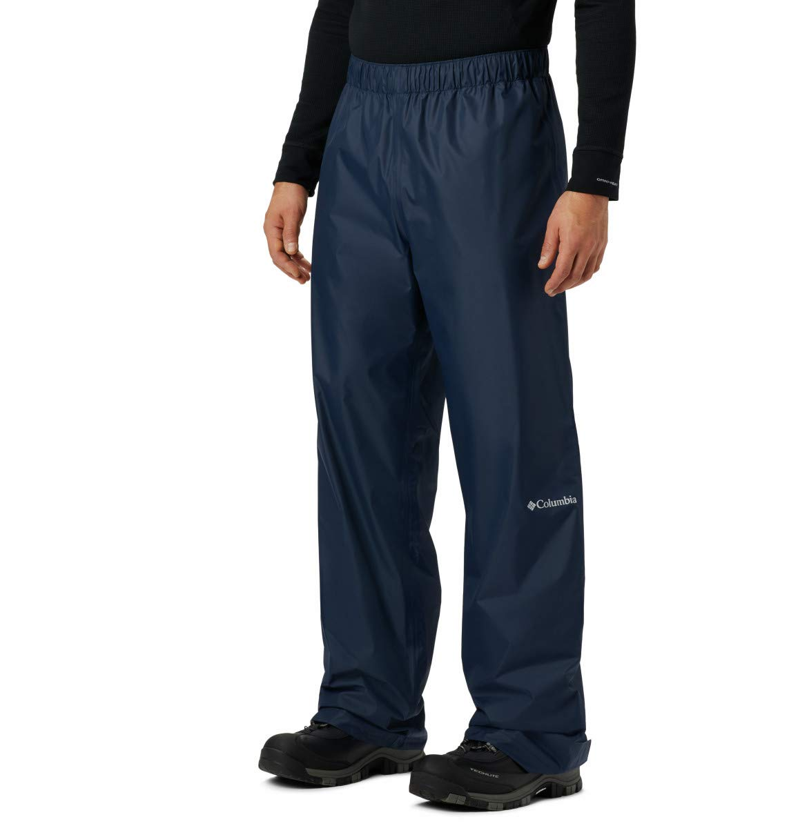 Columbia Men's Big and Tall Rebel Roamer Rain Pant, Collegiate Navy, 3XT x 36 by Columbia