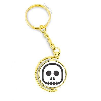 Amazon.com: Llavero de metal con esqueleto cuadrado con ...