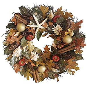 51eg%2B9ELQsL._SS300_ 70+ Beach Christmas Wreaths and Nautical Wreaths