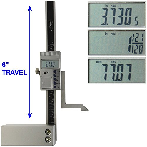 iGaging Digital Electronic Height Gauge with Magnetic Base, 6 Inch ()