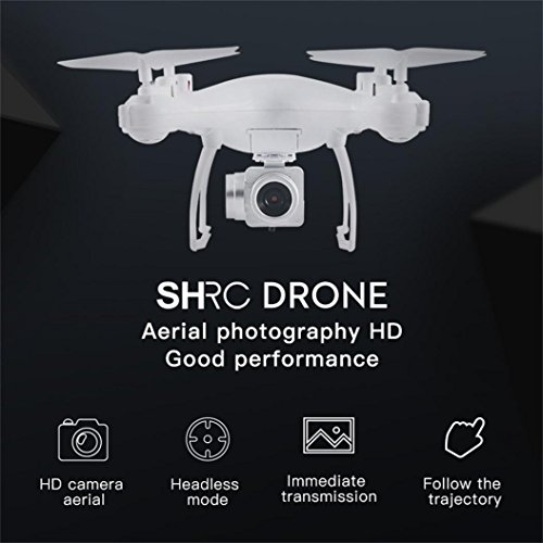 Dirance RC Quadcopter Drone, 4 Channel 6-Axis 3D Flip 720P WIFI FPV Live Video HD Camera Helicopter, Headless Mode & One Key Return & Altitude Hold (White) by Dirance