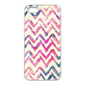 JFLIFE Chevron Phone Case for iphone5s White Shell Phone [Pattern-1]