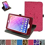 "Acer Iconia One 8 B1-820 / Tab 8 A1-860 Rotating Case,Mama Mouth 360 Degree Rotary Stand With Cute Lovely Pattern Cover For 8"" Acer Iconia One 8 B1-820 / A1-860-19LU Tablet,Rose Red"