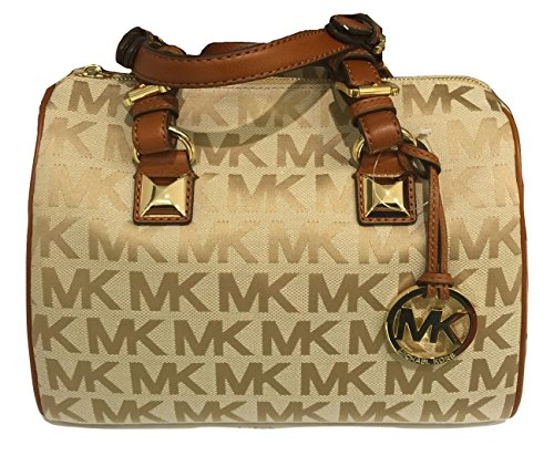 michael-kors-signature-mk-jacquard-grayson-medium-satchel-bag-beige-camel-luggage