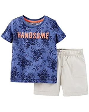 Baby Boys' 2 Piece Short Set (Baby) - Handsome - 3 Months …