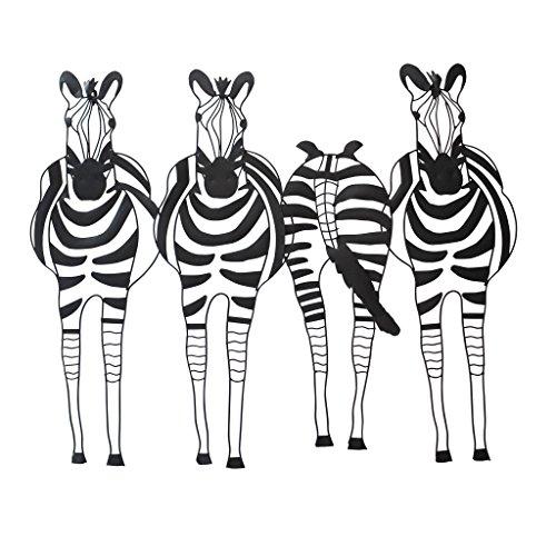 Design Toscano Static Stripes Sculptural Zebra Wall Frieze