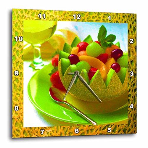 3 Melon Fruit Salad Wall Clock, - kitchen fruit wall art