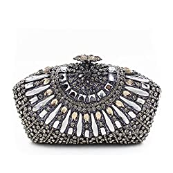 Luxury Seashell-Shaped Bling Crystal Clutch