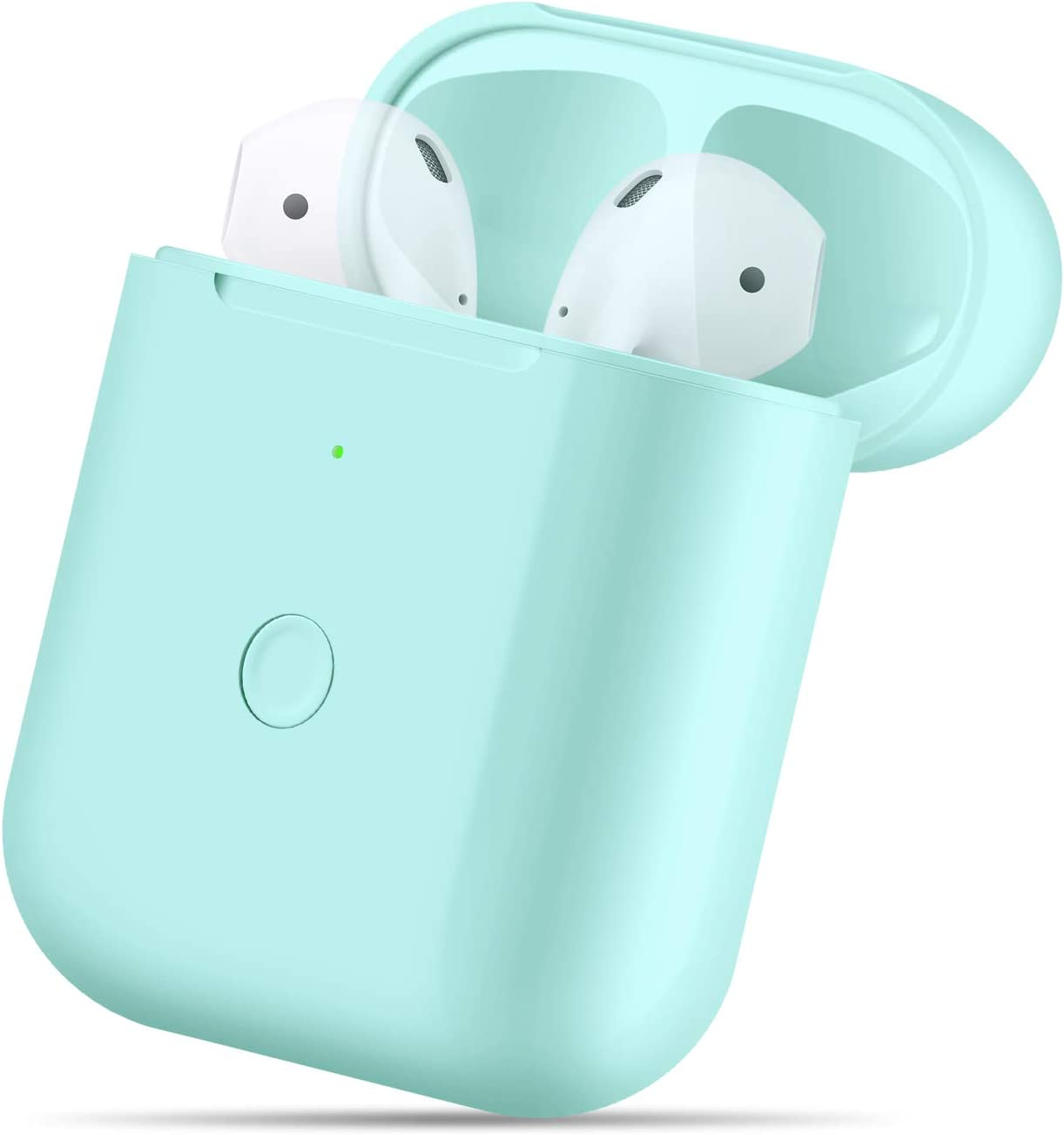 Wireless Charging Case Compatible with AirPods 1 2,Air pods Charger Case Replacement with Bluetooth Pairing Sync Button, no Aipods