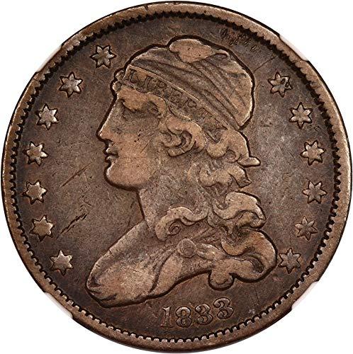 1833 P Bust Quarters (1796-1838) Quarter 86 NGC