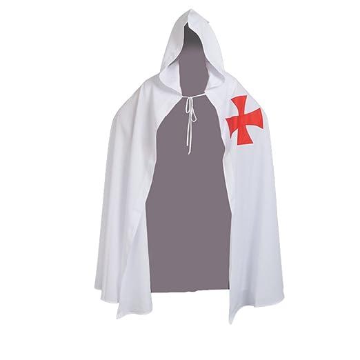BLESSUME Templario Caballeros Disfraz Sayo Medieval Capa con ...