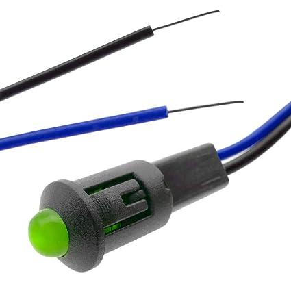 5 x LED ROSSO pannello 8mm precablata Indicatore 220V