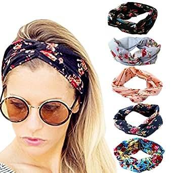 b5e89167d34 Image Unavailable. Image not available for. Color  DRESHOW Women 5 PCS  Headbands Headwraps Hair Bands Bows Accessories ...